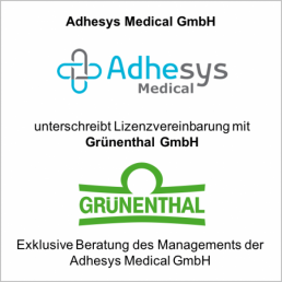adhesys gruenthal lizenz