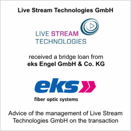livestream technologies eks loan