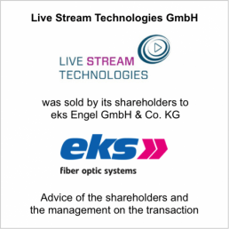 livestream technologies eks sold