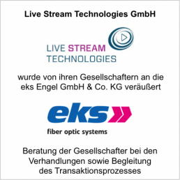 livestream technologies eks verkauf